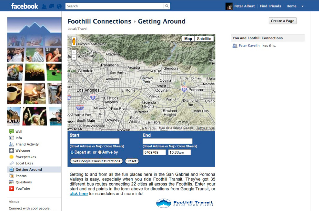 Foothill Connections - Getting Around Tab